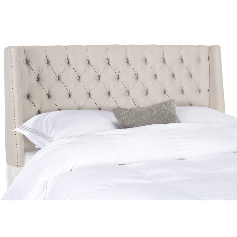 Safavieh Mercer Taupe Full Linen Upholstered Headboard