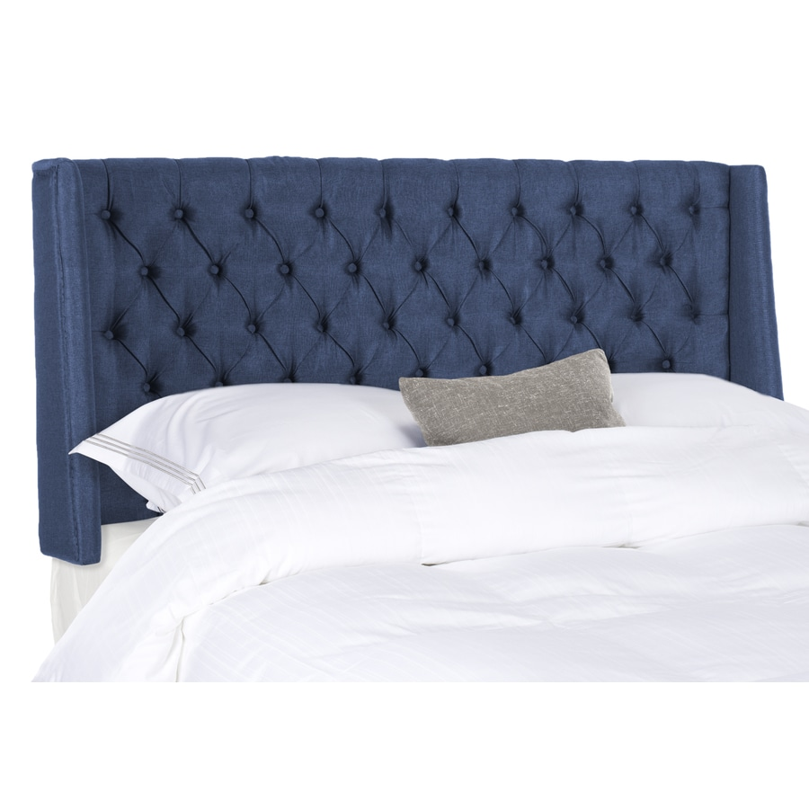 Safavieh London Navy Full Linen Upholstered Headboard