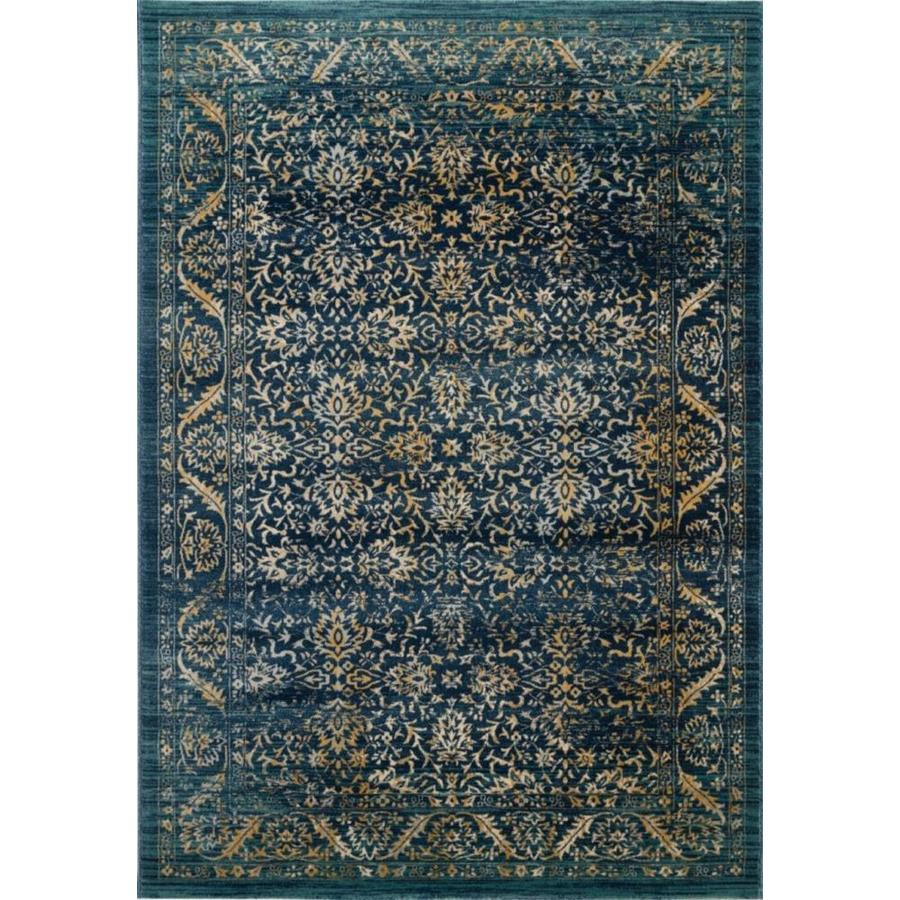 Safavieh Evoke Dadra Navy/Gold Rectangular Indoor Machine-Made Oriental Area Rug (Common: 5 x 7; Actual: 5.1-ft W x 7.5-ft L)