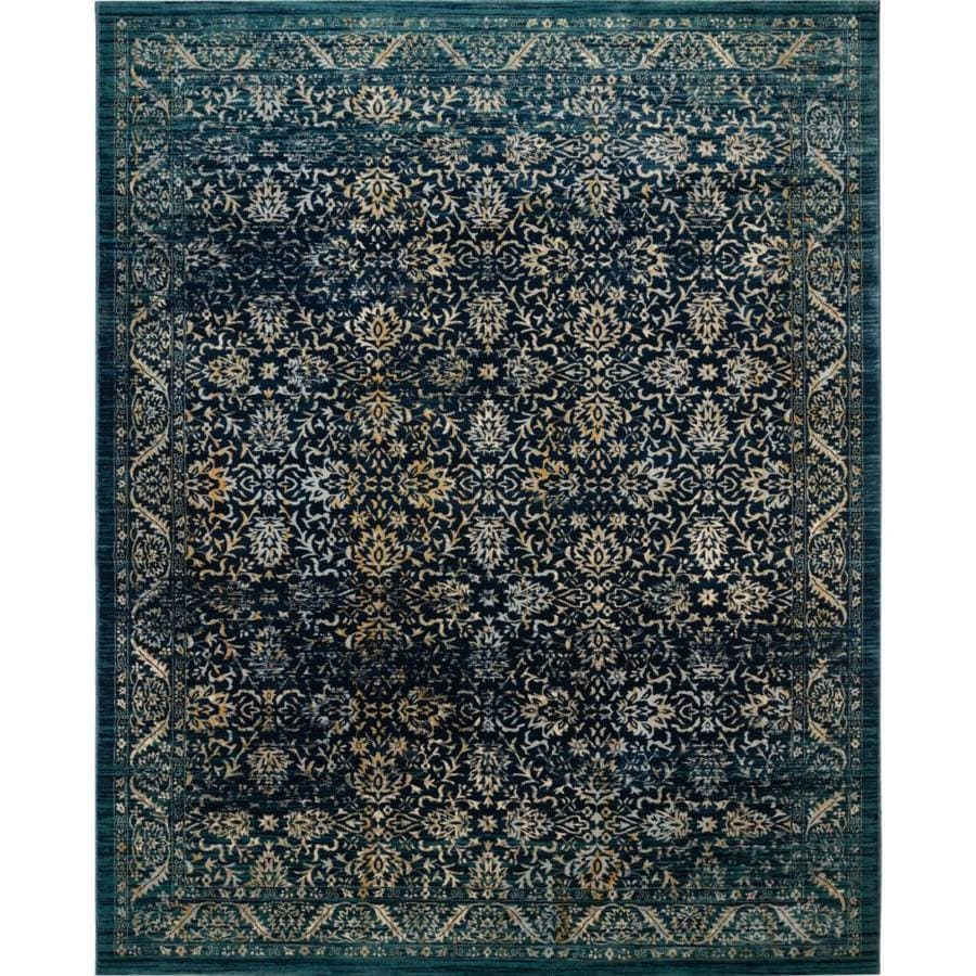 Safavieh Evoke Dadra Navy/Gold Rectangular Indoor Machine-Made Oriental Area Rug (Common: 9 x 12; Actual: 9-ft W x 12-ft L)