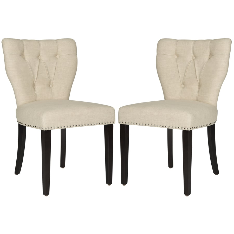 Safavieh Set of 2 Mercer Wheat Side Chairs