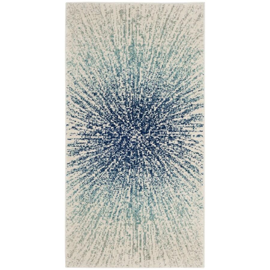 Safavieh Evoke Jude Royal/Ivory Rectangular Indoor Machine-Made Oriental Throw Rug (Common: 3 x 5; Actual: 3-ft W x 5-ft L)