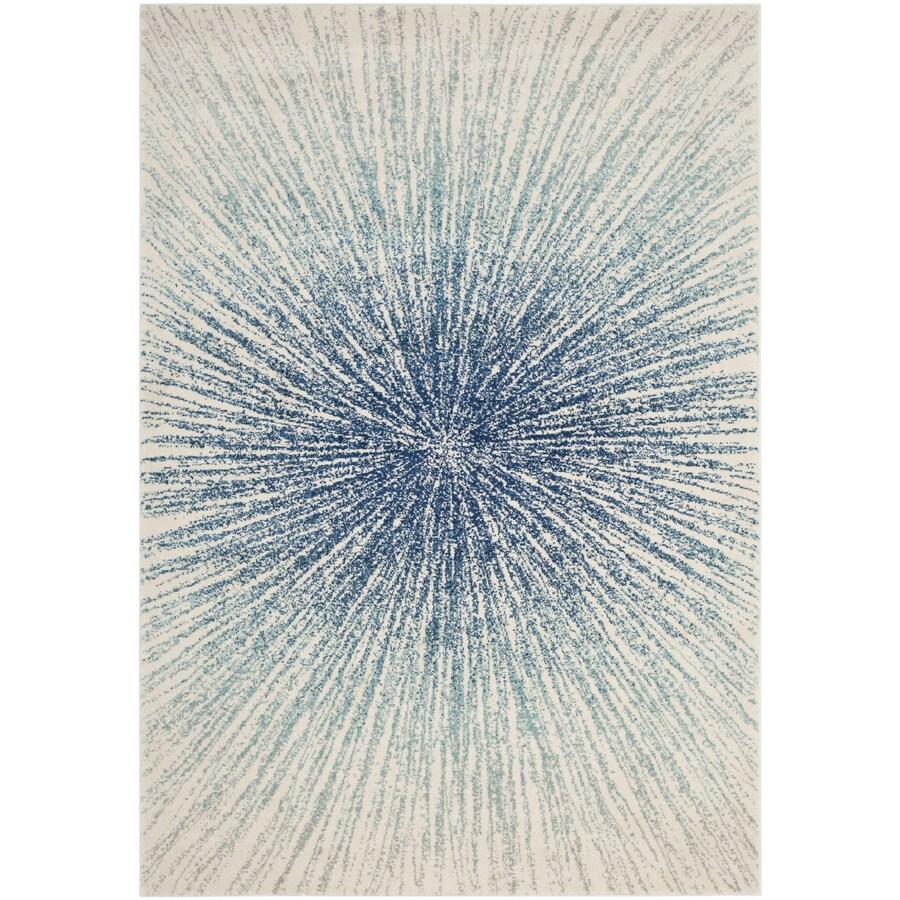 Safavieh Evoke Jude Royal/Ivory Rectangular Indoor Machine-Made Oriental Area Rug (Common: 9 x 12; Actual: 9-ft W x 12-ft L)