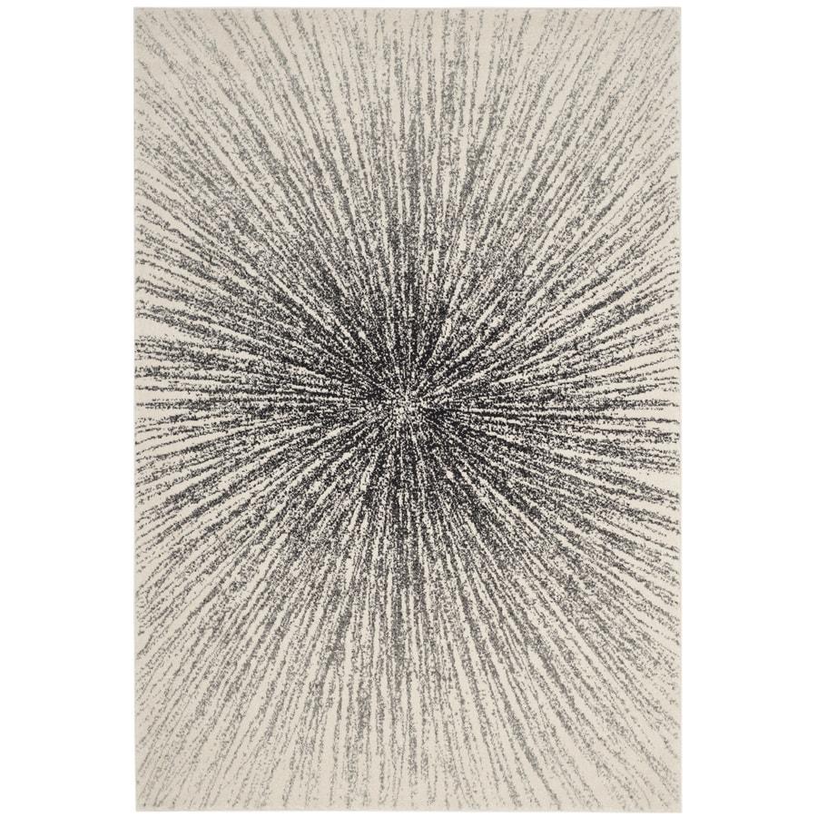 Safavieh Evoke Jude Black/Ivory Indoor Oriental Area Rug (Common: 5 x 8; Actual: 5.1-ft W x 7.5-ft L)