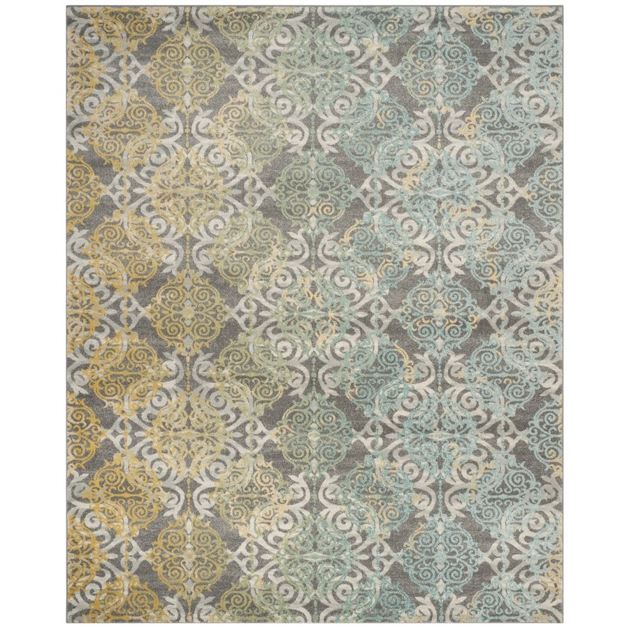 Safavieh Evoke Rigby Gray/Multi Rectangular Indoor Machine-Made Oriental Area Rug (Common: 6 x 9; Actual: 6.6-ft W x 9-ft L)