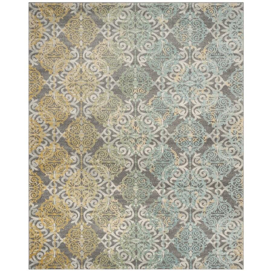 Safavieh Evoke Rigby Gray/Multi Rectangular Indoor Machine-Made Oriental Area Rug (Common: 8 x 10; Actual: 8-ft W x 10-ft L)