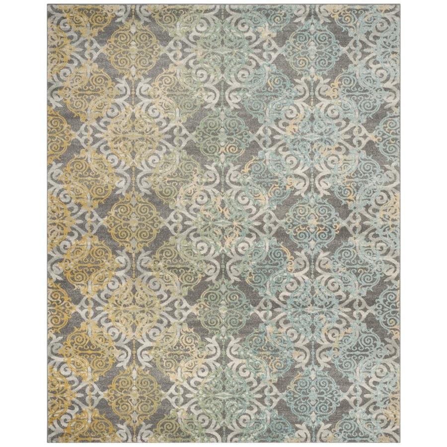 Safavieh Evoke Rigby Gray/Multi Rectangular Indoor Machine-Made Oriental Area Rug (Common: 9 x 12; Actual: 9-ft W x 12-ft L)