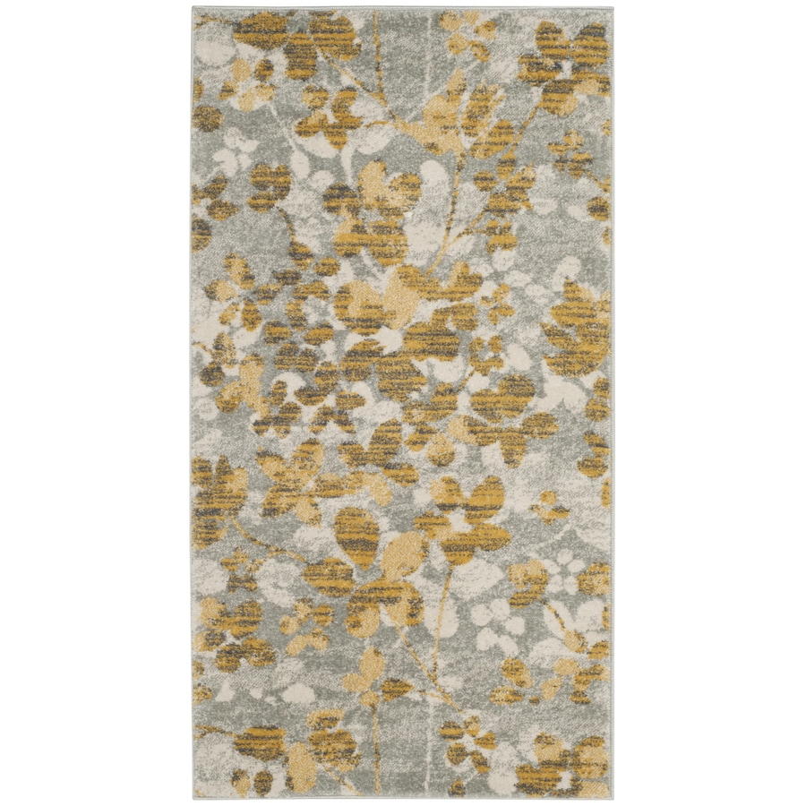 Safavieh Evoke Maxwell Gray/Gold Indoor Oriental Throw Rug (Common: 3 x 5; Actual: 3-ft W x 5-ft L)