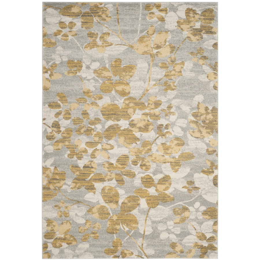 Safavieh Evoke Maxwell Gray/Gold Indoor Oriental Area Rug (Common: 4 x 6; Actual: 4-ft W x 6-ft L)