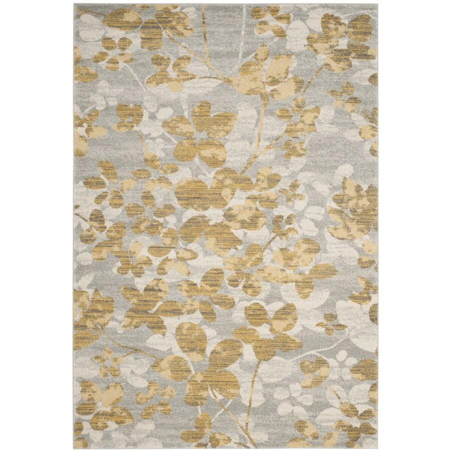 Safavieh Evoke Maxwell Gray/Gold Rectangular Indoor Machine-Made Oriental Area Rug (Common: 5 x 7; Actual: 5.1-ft W x 7.5-ft L)