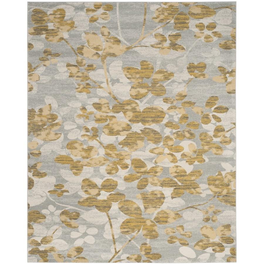 Safavieh Evoke Maxwell Gray/Gold Indoor Oriental Area Rug (Common: 7 x 9; Actual: 6.7-ft W x 9-ft L)