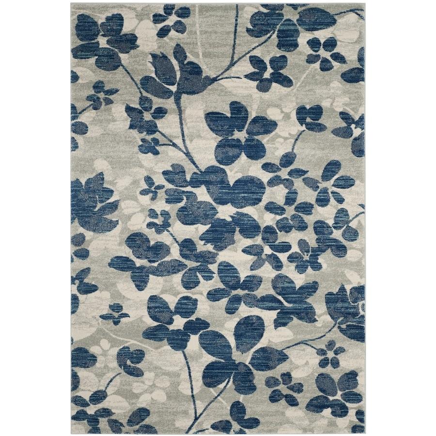 Safavieh Evoke Maxwell Gray/Light Blue Rectangular Indoor Machine-Made Oriental Area Rug (Common: 5 x 7; Actual: 5.1-ft W x 7.5-ft L)
