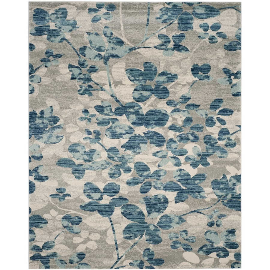 Safavieh Evoke Maxwell Gray/Light Blue Indoor Oriental Area Rug (Common: 7 x 9; Actual: 6.7-ft W x 9-ft L)