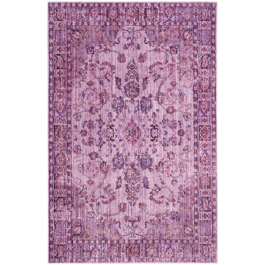 Safavieh Valencia Sarina Pink/Multi Rectangular Indoor Machine-made Distressed Area Rug (Common: 4 x 6; Actual: 4-ft W x 6-ft L)