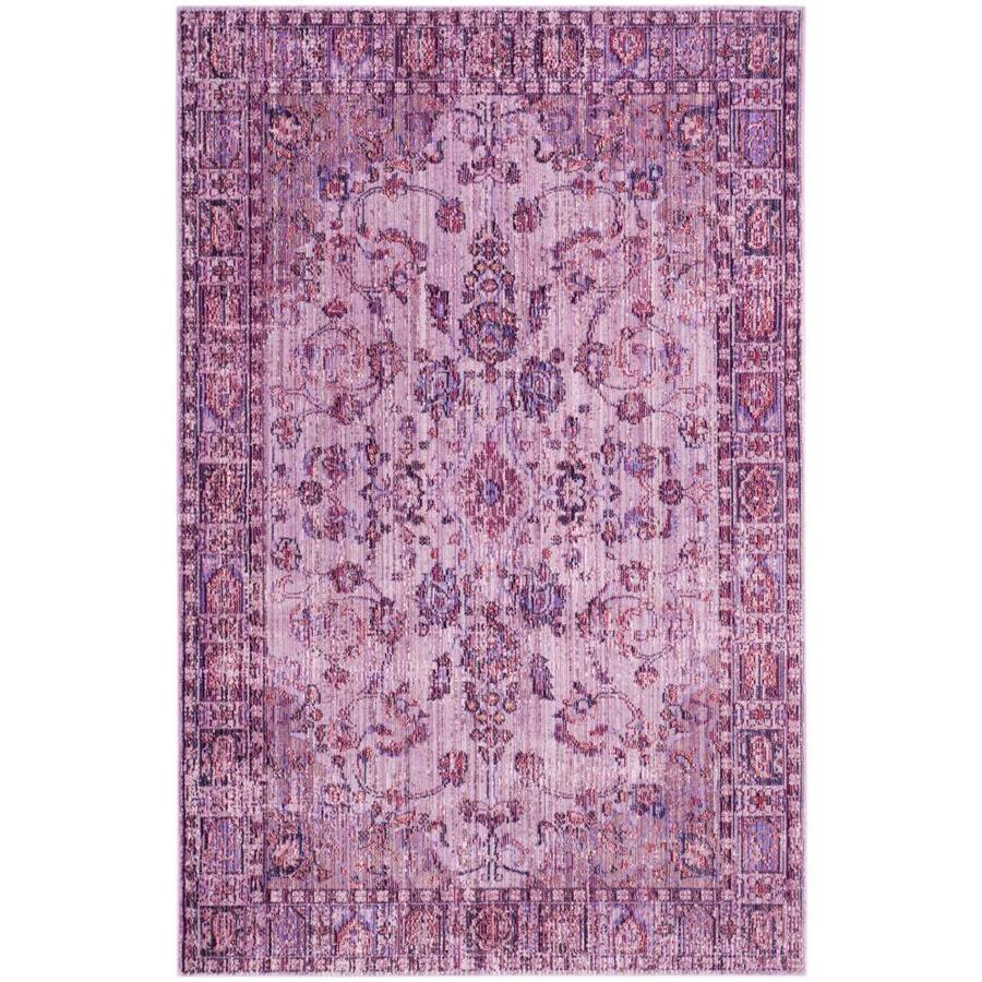 Safavieh Valencia Pink/Multi Rectangular Indoor Machine-Made Distressed Area Rug (Common: 8 x 10; Actual: 8-ft W x 10-ft L)