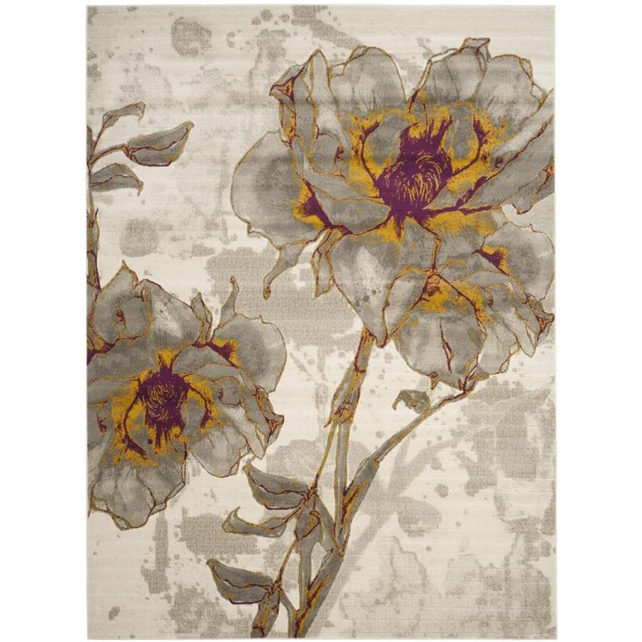 Safavieh Porcello Daphne Ivory/Gray Rectangular Indoor Machine-made Nature Area Rug (Common: 9 x 12; Actual: 9-ft W x 12-ft L)
