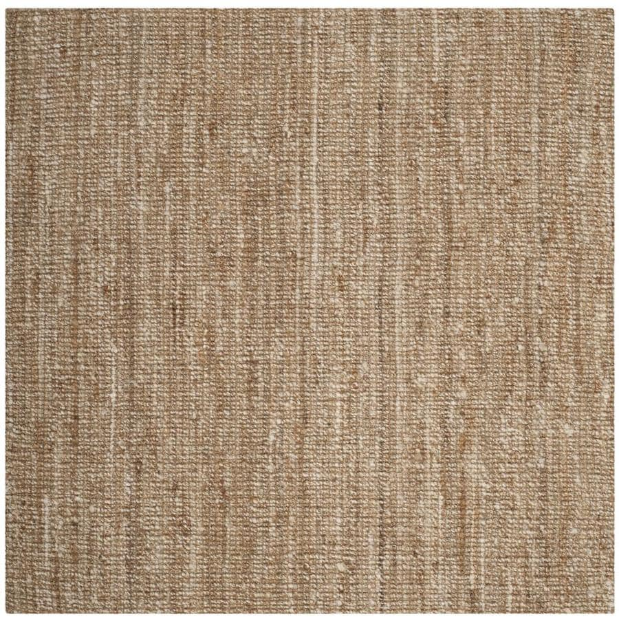 Safavieh Natural Fiber Bellport Natural/Ivory Square Indoor Handcrafted Coastal Area Rug (Common: 6 x 6; Actual: 6-ft W x 6-ft)