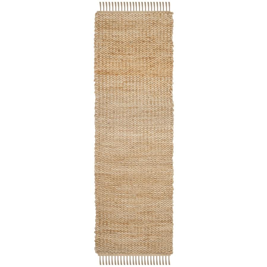 Safavieh Natural Fiber Roslyn Natural Rectangular Indoor Handcrafted Coastal Runner (Common: 2 x 8; Actual: 2.5-ft W x 8-ft)