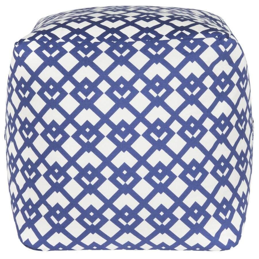 Safavieh Blue/White Pouf Ottoman