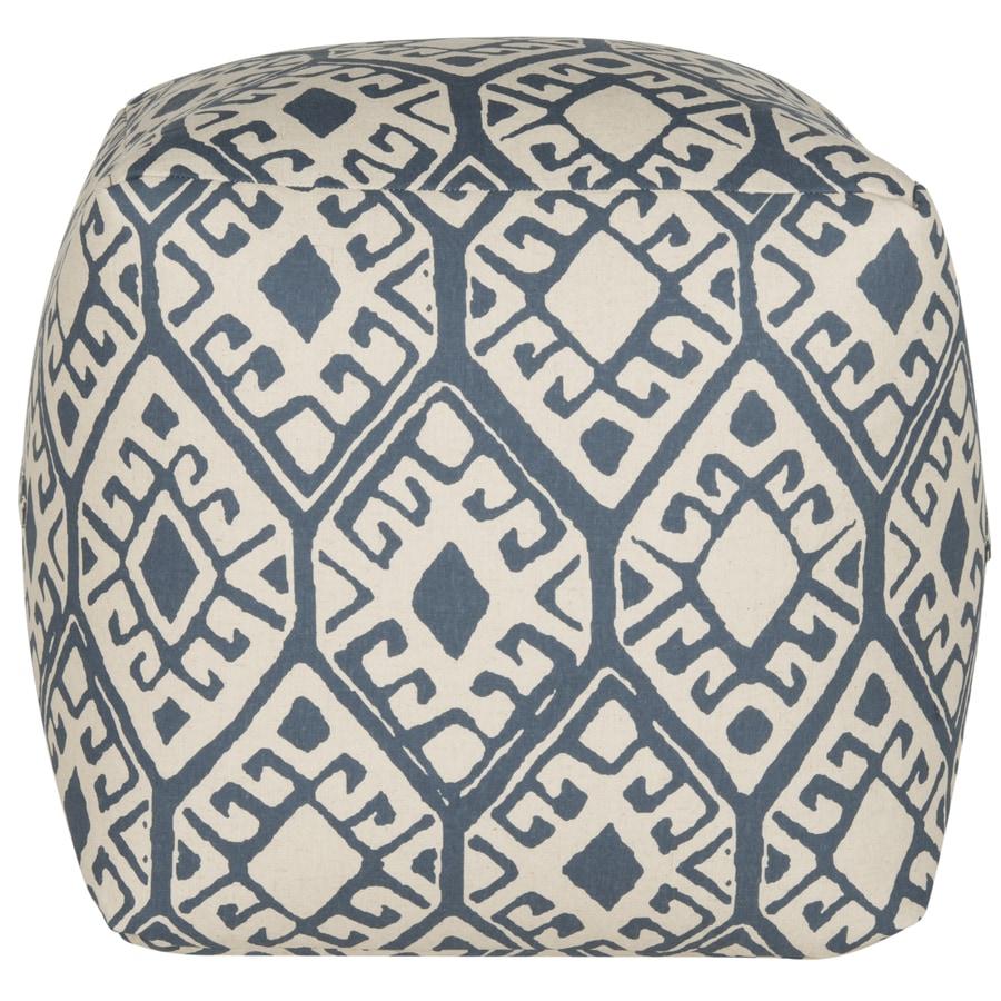 Safavieh Blue/Beige Pouf Ottoman