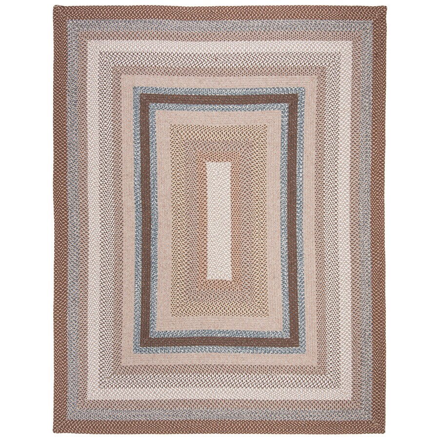 Safavieh Braided Charleston Brown Indoor Handcrafted Coastal Area Rug (Common: 10 x 14; Actual: 10-ft W x 14-ft L)