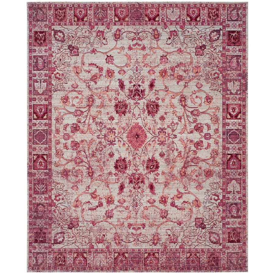 Safavieh Valencia Tabitha Fuchsia Indoor Distressed Area Rug (Common: 8 x 10; Actual: 8-ft W x 10-ft L)