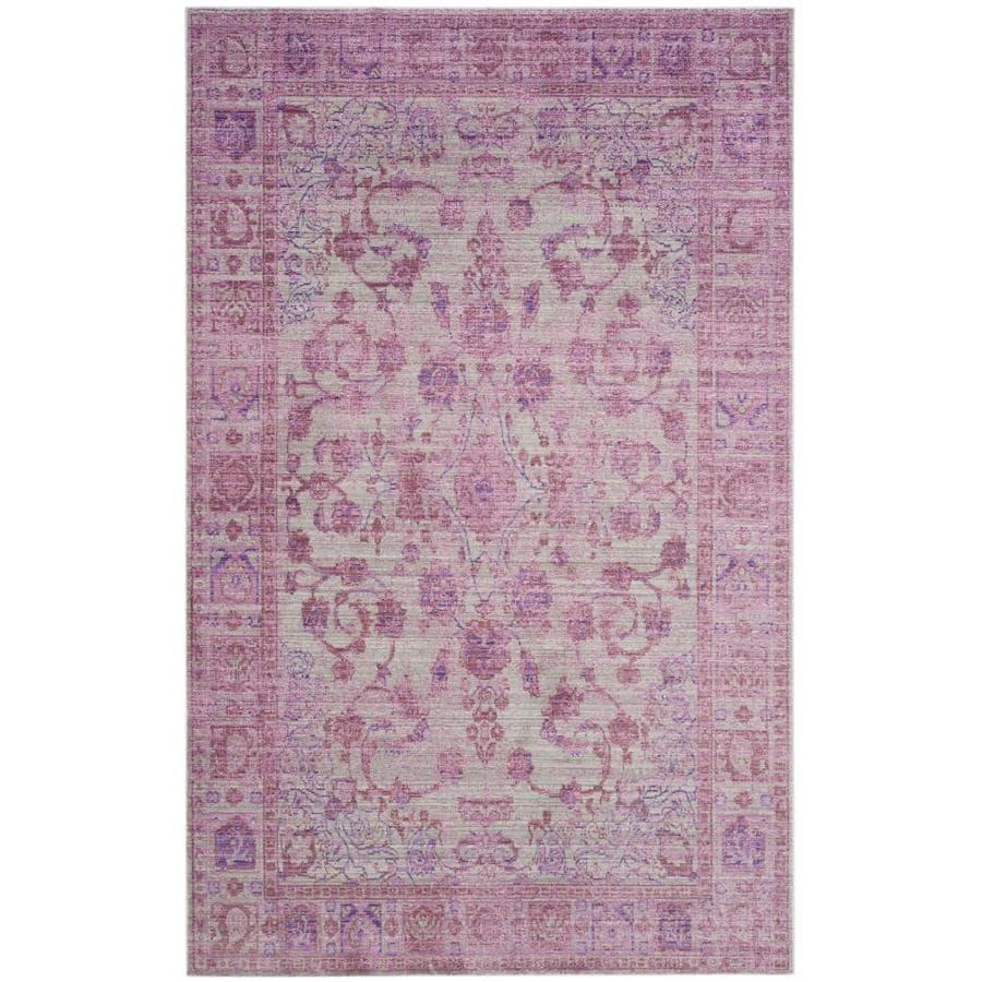 Safavieh Valencia Tabitha Pink/Multi Rectangular Indoor Machine-made Distressed Area Rug (Common: 8 x 10; Actual: 8-ft W x 10-ft L)