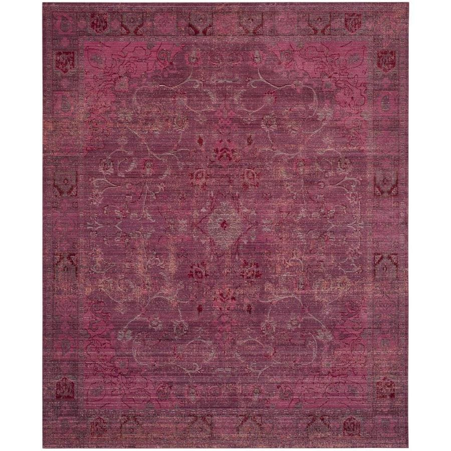 Safavieh Valencia Tabitha Red/Red Rectangular Indoor Machine-made Distressed Area Rug (Common: 8 x 10; Actual: 8-ft W x 10-ft L)
