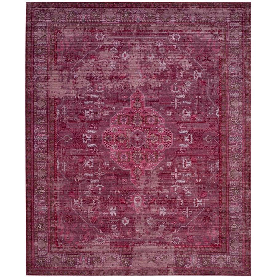 Safavieh Valencia Ward Red/Multi Rectangular Indoor Machine-made Distressed Area Rug (Common: 8 x 10; Actual: 8-ft W x 10-ft L)