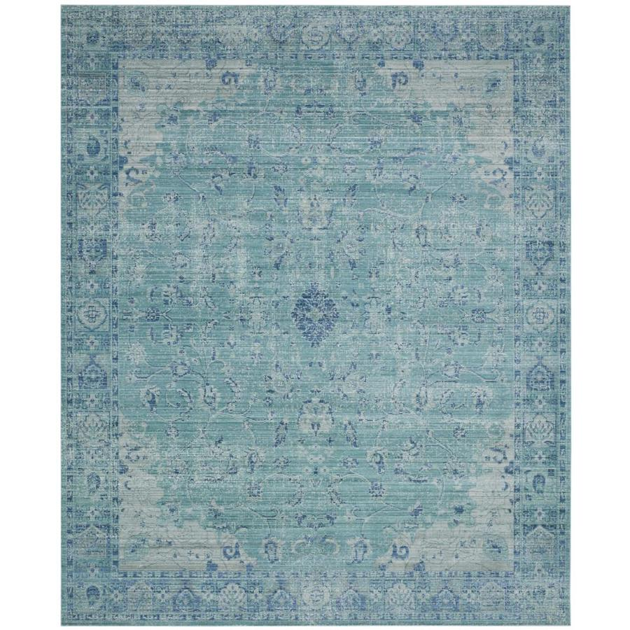 Safavieh Valencia Tabitha Teal Indoor Distressed Area Rug (Common: 9 x 12; Actual: 9-ft W x 12-ft L)