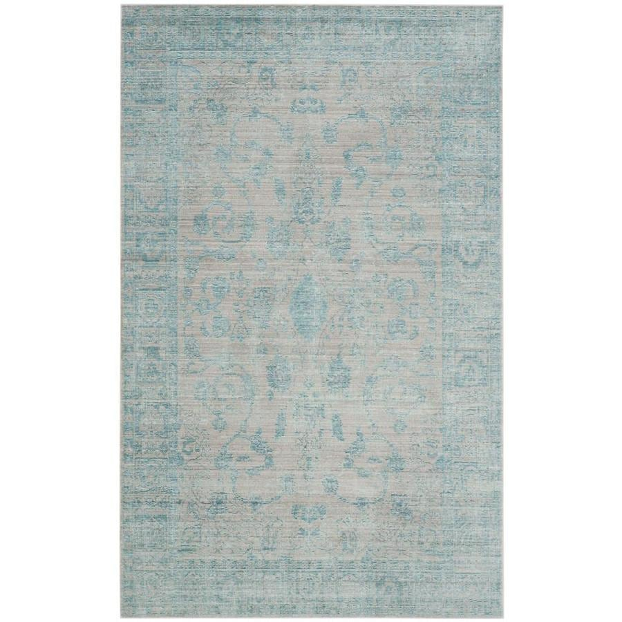 Safavieh Valencia Tabitha Blue/Multi Rectangular Indoor Machine-made Distressed Area Rug (Common: 8 x 10; Actual: 8-ft W x 10-ft L)