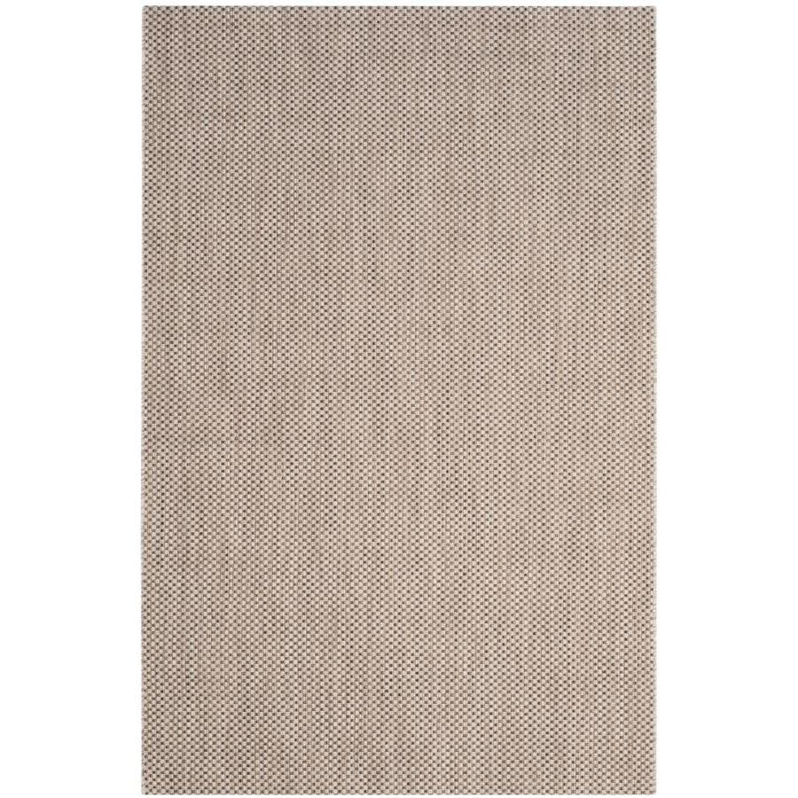 Safavieh Courtyard Verd Beige/Brown Rectangular Indoor/Outdoor Machine-Made Coastal Area Rug (Common: 4 x 5; Actual: 4-ft W x 5.58-ft L)