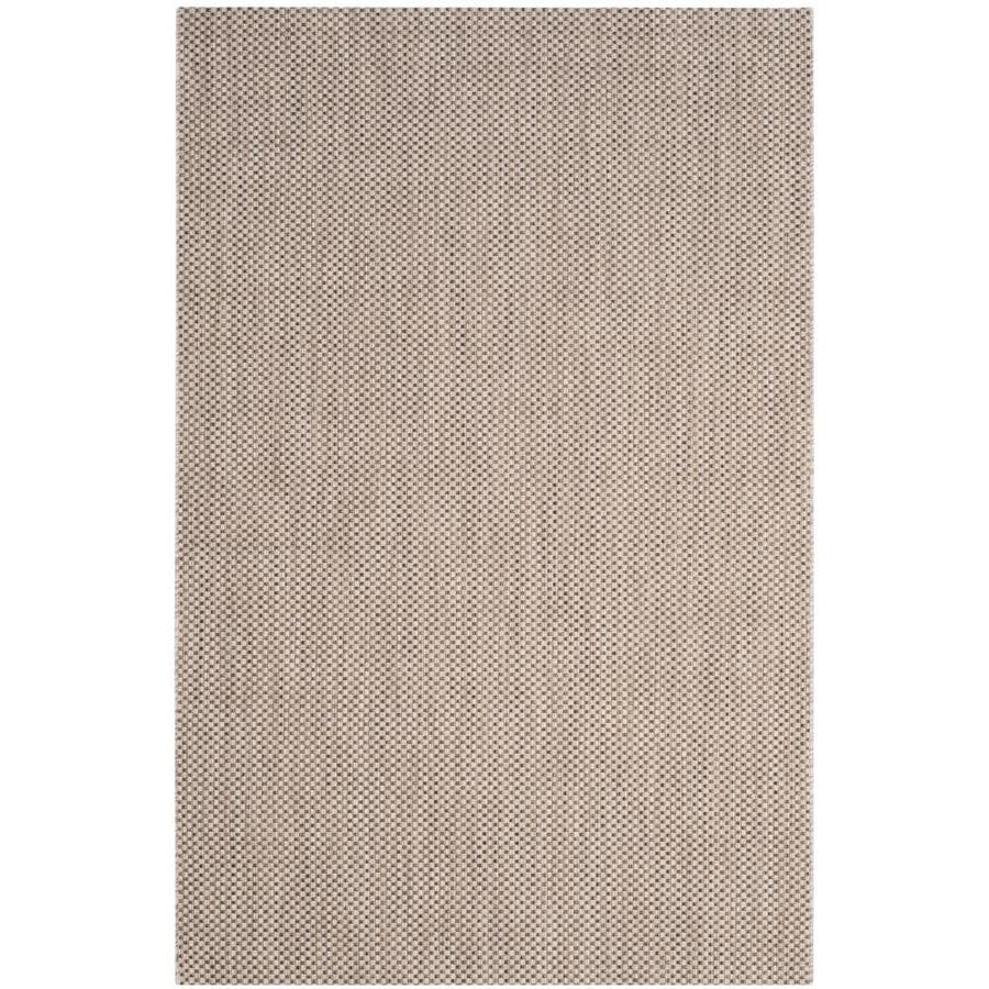 Safavieh Courtyard Verd Beige/Brown Rectangular Indoor/Outdoor Machine-Made Coastal Area Rug (Common: 6 x 9; Actual: 6.58-ft W x 9.5-ft L)