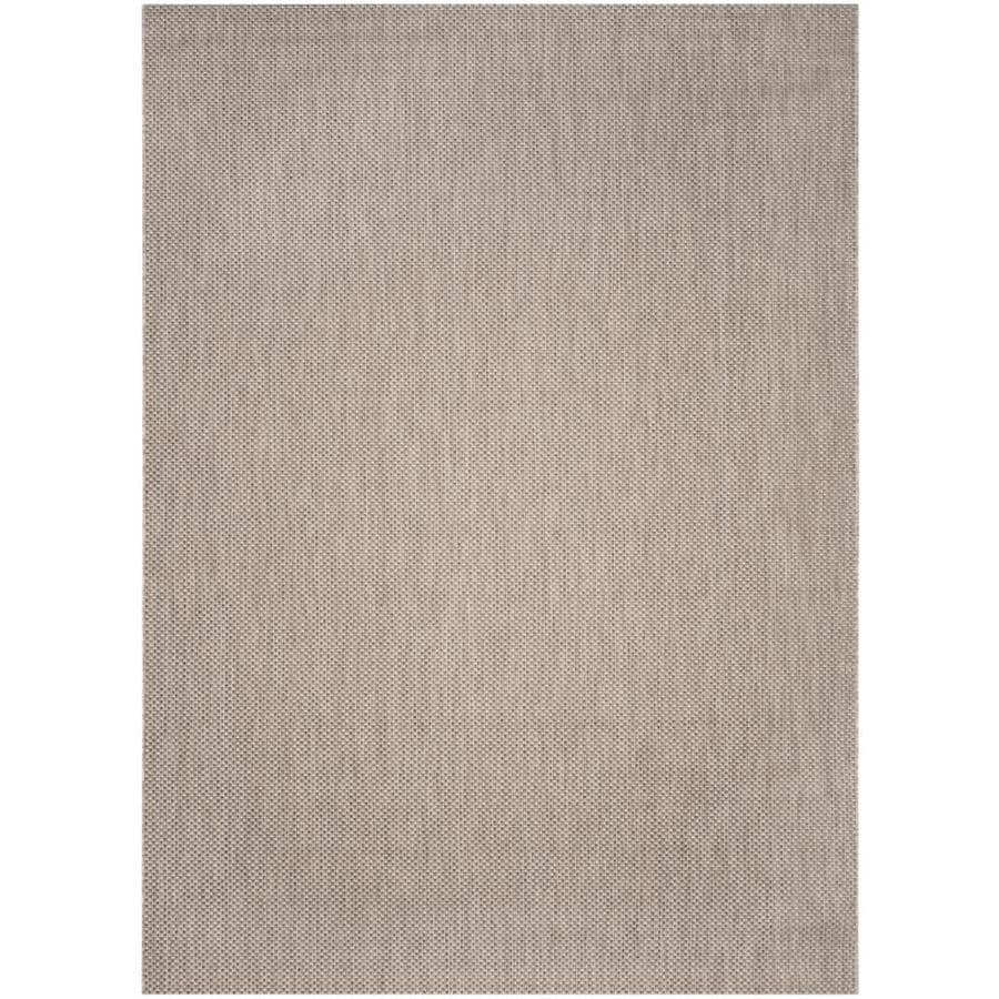 Safavieh Courtyard Verd Beige/Brown Rectangular Indoor/Outdoor Machine-made Coastal Area Rug (Common: 8 x 11; Actual: 8-ft W x 11-ft L)