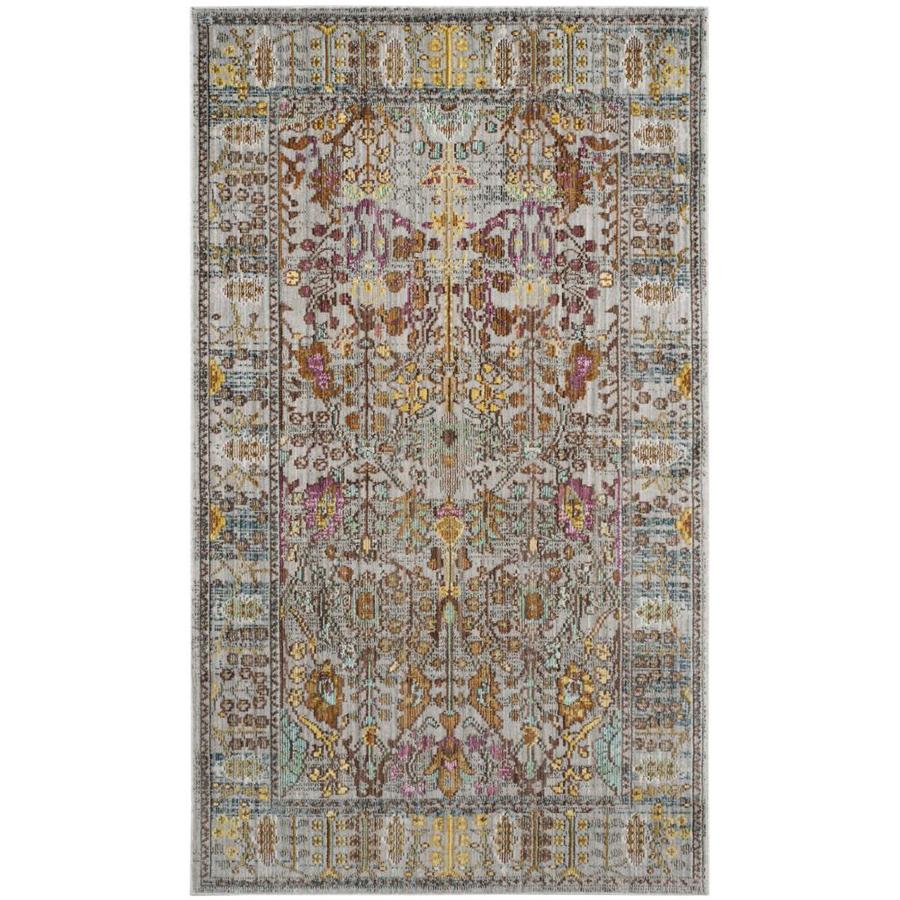 Safavieh Valencia Odessa Gray Indoor Distressed Throw Rug
