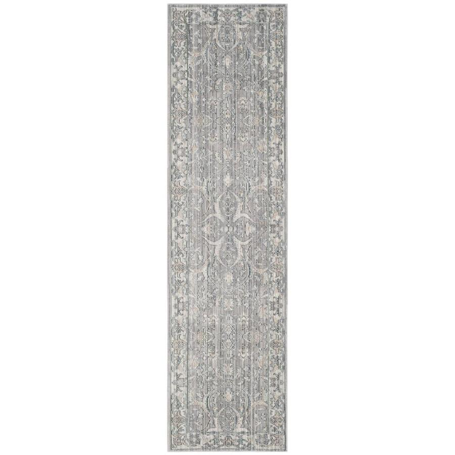 Safavieh Valencia Jiles Mauve/Cream Rectangular Indoor Machine-made Distressed Runner (Common: 2 x 6; Actual: 2.25-ft W x 6-ft L)