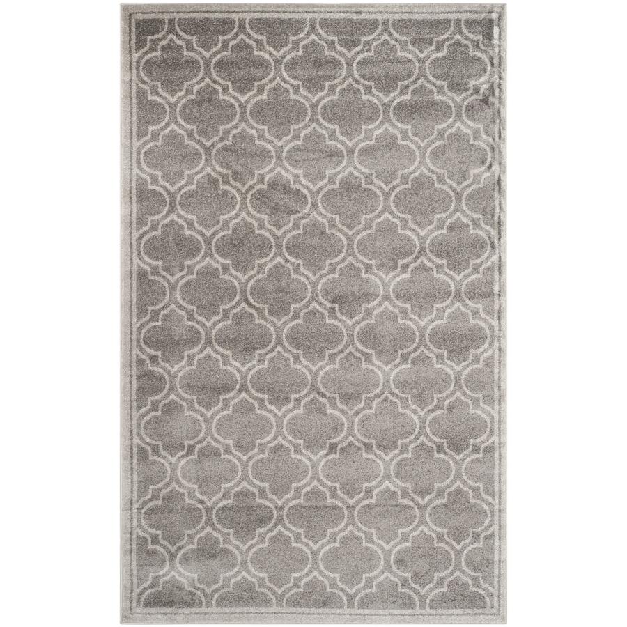 Safavieh Amherst Moroccan Gray Rectangular Indoor/Outdoor Machine-made Moroccan Area Rug (Common: 5 x 8; Actual: 5-ft W x 8-ft L)