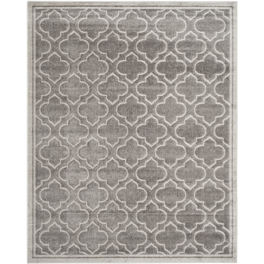 Safavieh Amherst Moroccan Gray Rectangular Indoor/Outdoor Machine-made Moroccan Area Rug (Common: 8 x 10; Actual: 8-ft W x 10-ft L)