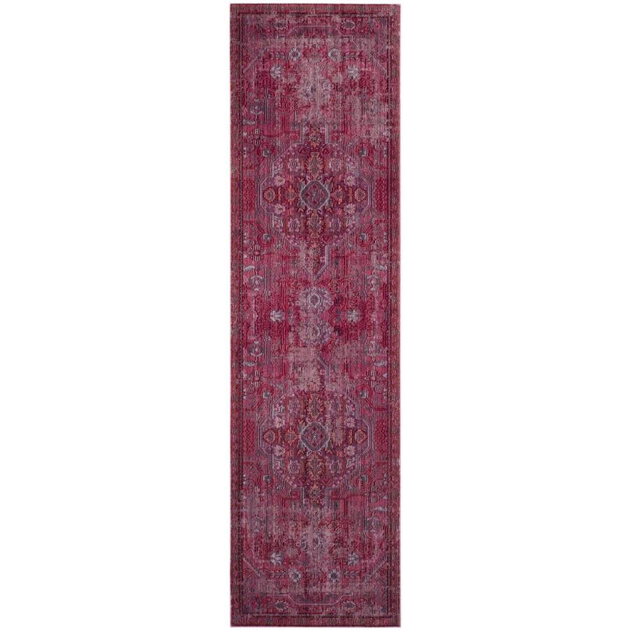 Safavieh Valencia Ward Red Indoor Distressed Runner (Common: 2 x 8; Actual: 2.25-ft W x 8-ft L)