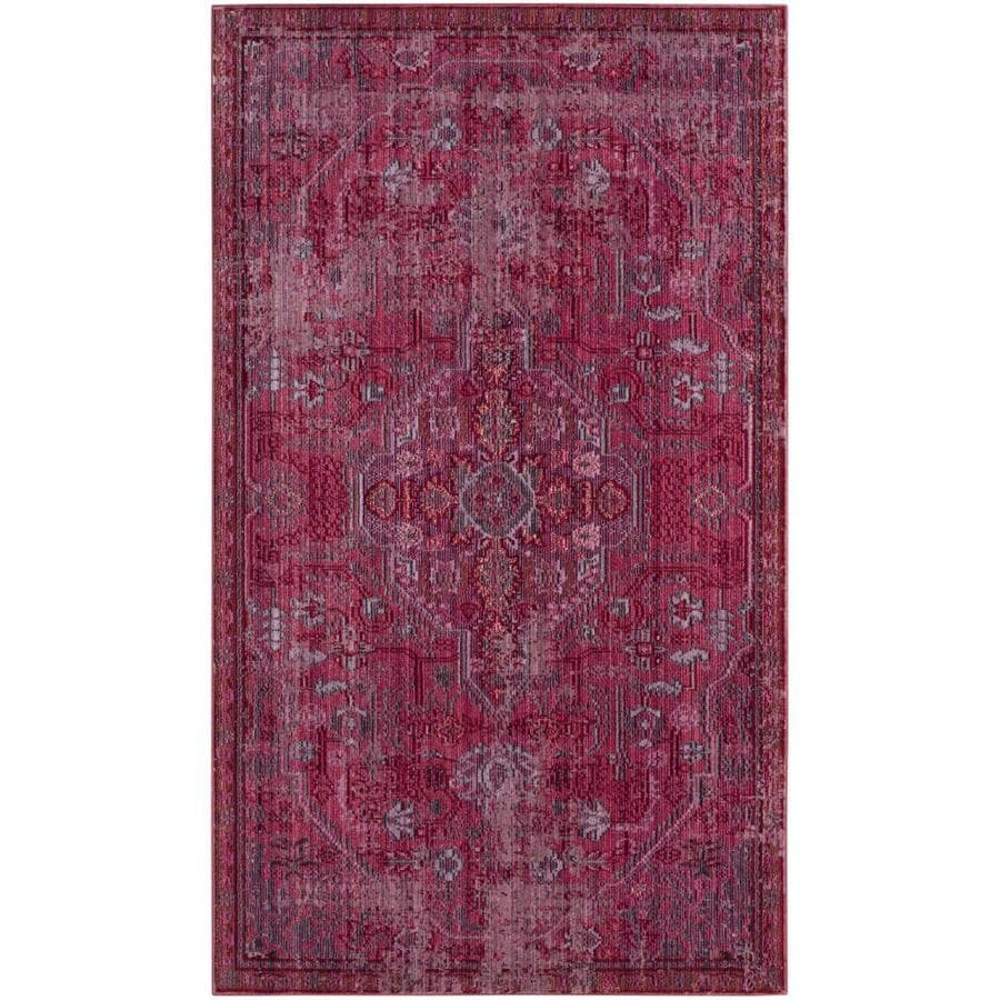 Safavieh Valencia Ward Red Indoor Distressed Throw Rug (Common: 3 x 5; Actual: 3-ft W x 5-ft L)