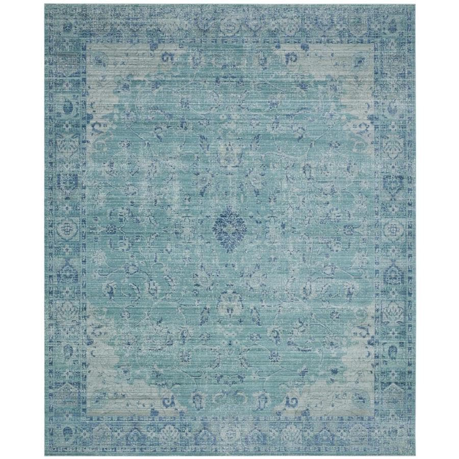 Safavieh Valencia Tabitha Teal Indoor Distressed Area Rug (Common: 8 x 10; Actual: 8-ft W x 10-ft L)