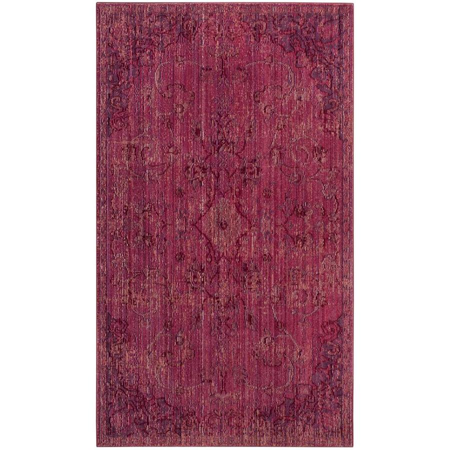 Safavieh Valencia Tabitha Red Indoor Distressed Runner (Common: 2 x 8; Actual: 2.25-ft W x 8-ft L)