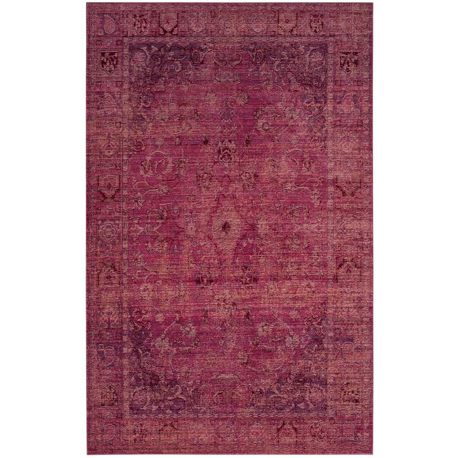 Safavieh Valencia Tabitha Red Indoor Distressed Area Rug (Common: 5 x 8; Actual: 5-ft W x 8-ft L)