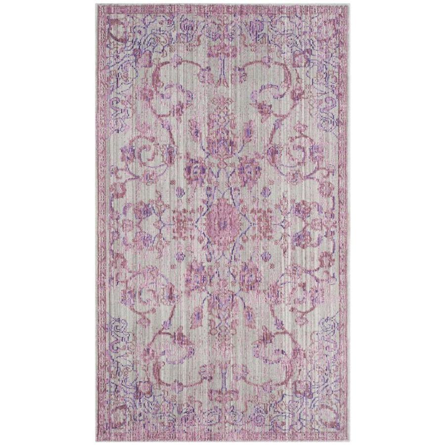 Safavieh Valencia Tabitha Pink/Multi Rectangular Indoor Machine-made Distressed Area Rug (Common: 4 x 6; Actual: 4-ft W x 6-ft L)