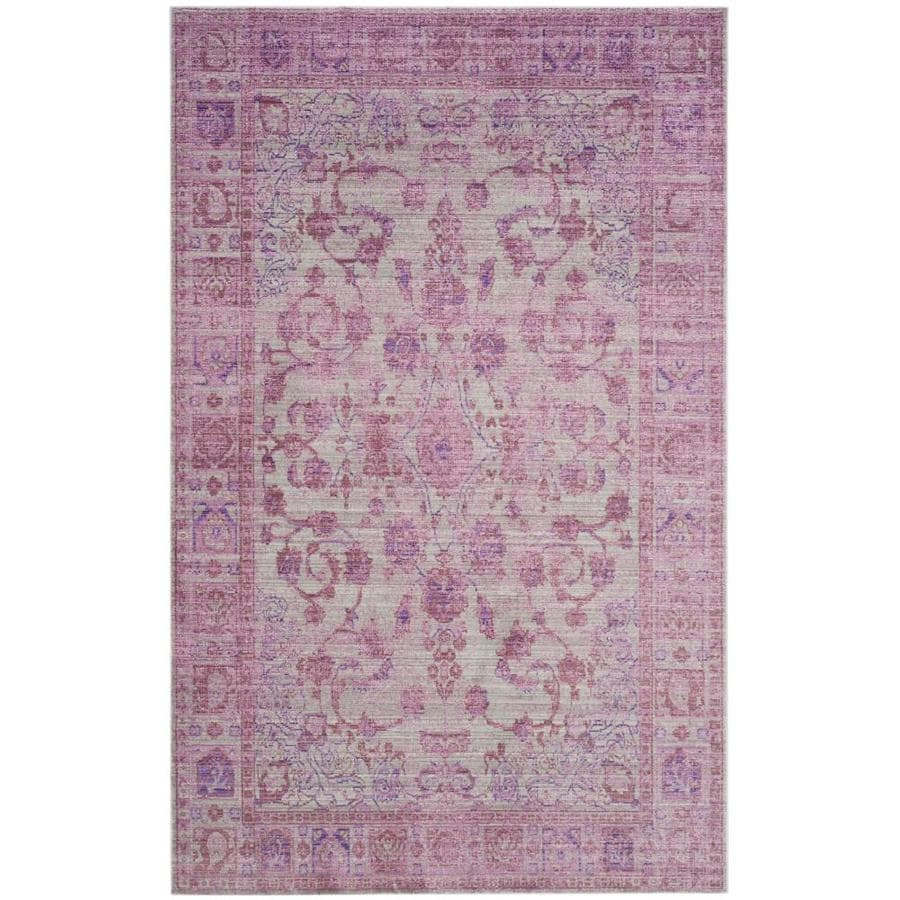 Safavieh Valencia Tabitha Pink Indoor Distressed Area Rug (Common: 5 x 8; Actual: 5-ft W x 8-ft L)