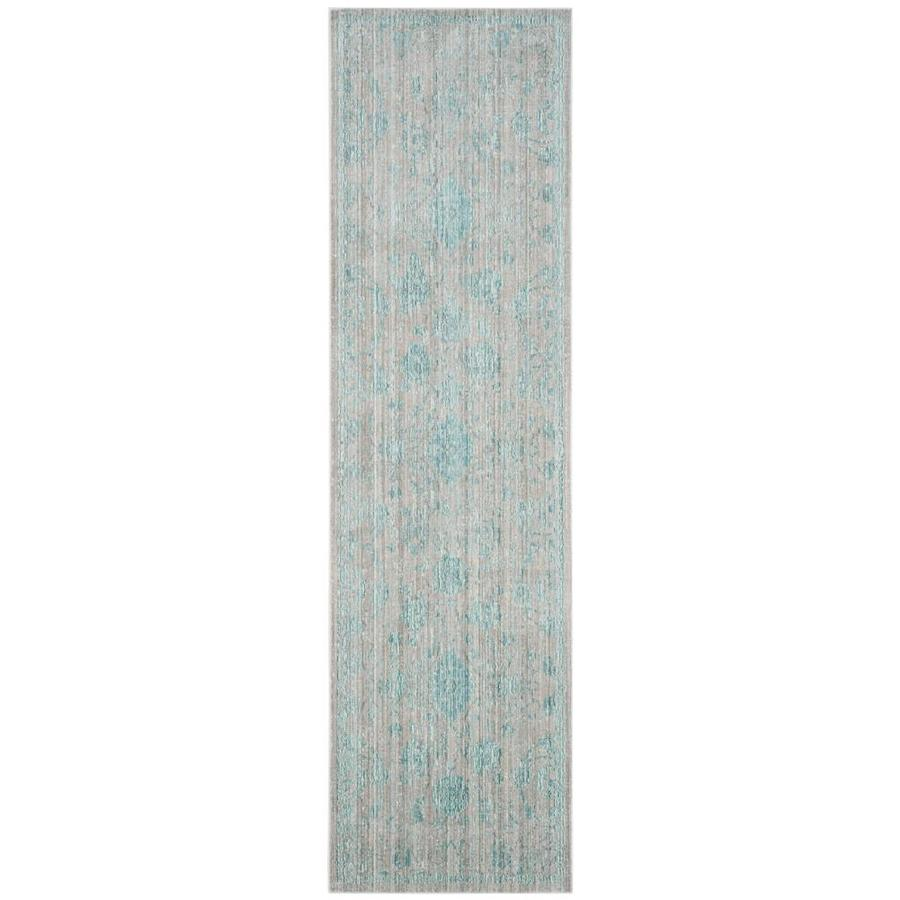 Safavieh Valencia Tabitha Blue Indoor Distressed Runner (Common: 2 x 8; Actual: 2.25-ft W x 8-ft L)