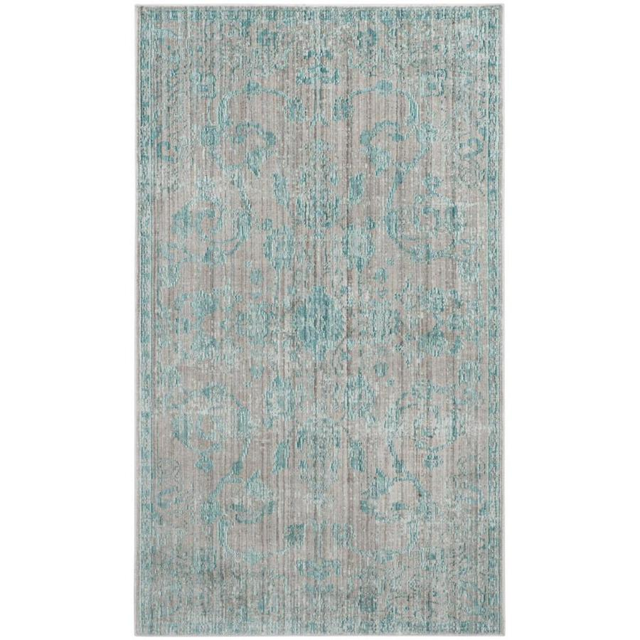 Safavieh Valencia Tabitha Blue Indoor Distressed Throw Rug (Common: 3 x 5; Actual: 3-ft W x 5-ft L)