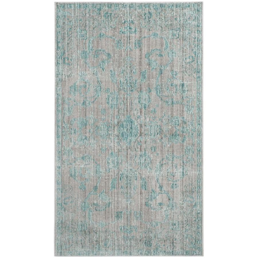 Safavieh Valencia Tabitha Blue Indoor Distressed Area Rug (Common: 4 x 6; Actual: 4-ft W x 6-ft L)