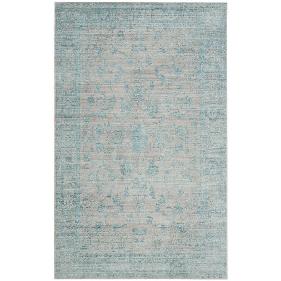 Safavieh Valencia Tabitha Blue/Multi Rectangular Indoor Machine-made Distressed Area Rug (Common: 5 x 8; Actual: 5-ft W x 8-ft L)
