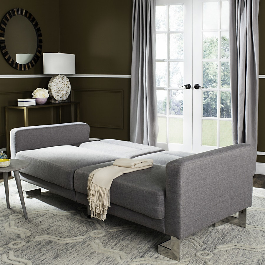 Ashley Furniture Green Valley Az: Safavieh Tribeca Gray/Silver Polyester Sofa Bed At Lowes.com
